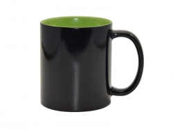 11oz Black Magic Mug (Inner Light green)