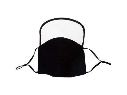 Sublimation Black Cotton Face Masks with Eye Shield (18*20cm)