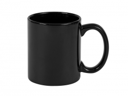 11oz Full Color Mug(Glossy, Black)